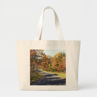 Fall Foliage on a Winding Road Jumbo Tote Bag