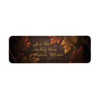 Fall Foliage Return Address Label
