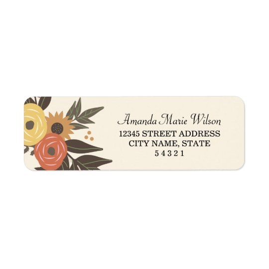 Fall Foliage Return Address Labels
