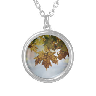 Fall Foliage Silver Plated Necklace