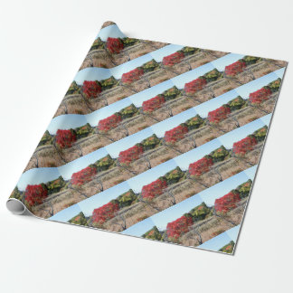 Fall foliage tag wrapping paper
