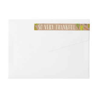 Fall Foliage Thankful Envelope Wrap Address Labels