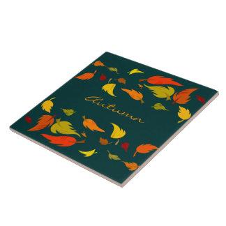 Fall Foliage. Thanksgiving Gift Coaster Large Square Tile