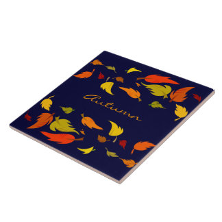 Fall Foliage. Thanksgiving Gift Coaster Ceramic Tiles