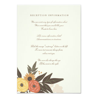 Fall Foliage Wedding Insert card 11 Cm X 16 Cm Invitation Card
