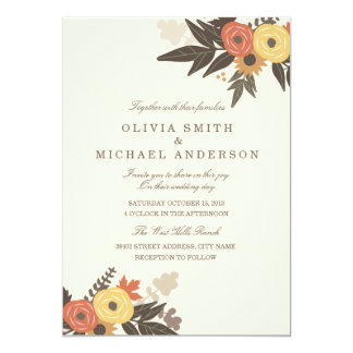 Fall Foliage Wedding Invitation