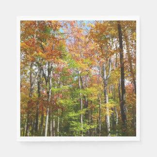 Fall Forest II Autumn Landscape Photography Paper Serviettes
