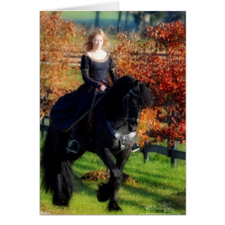 Fall Friesian NoteCard