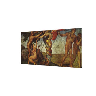 Fall from the Garden of Eden by Michelangelo Canvas Print