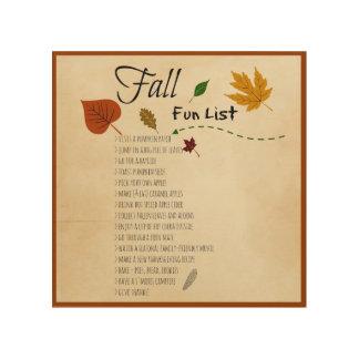 Fall Fun List Seasonal Autumn Harvest Activities Wood Wall Decor