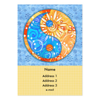 Fall Garden Yin Yang Large Business Cards (Pack Of 100)