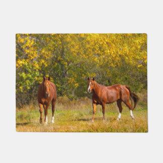 Fall Golden Horses Doormat