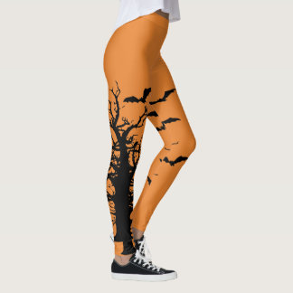 Fall Halloween Tree Leggings