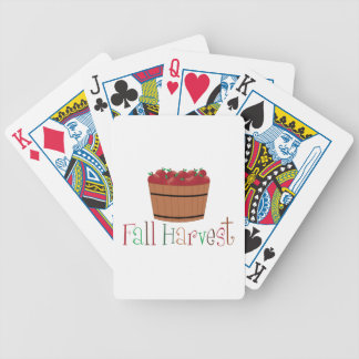 Fall Harvest Bicycle Playing Cards