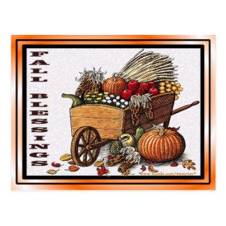 Fall Harvest Blessings Postcard