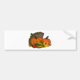 Fall Harvest Bumper Sticker