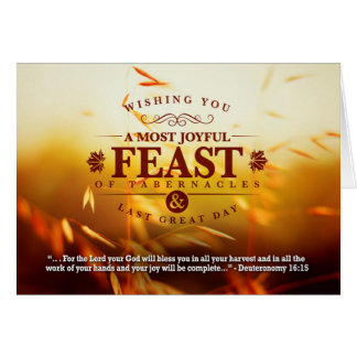 Fall Harvest Feast Greetings Card