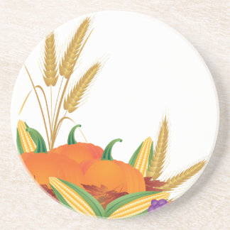 Fall Harvest Illustration Coaster