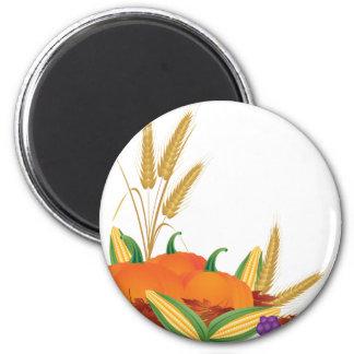 Fall Harvest Illustration Magnet