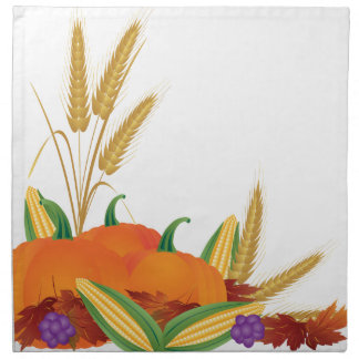 Fall Harvest Illustration Napkin
