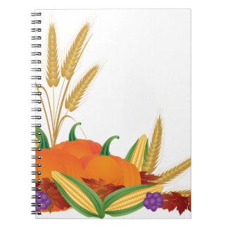 Fall Harvest Illustration Notebook