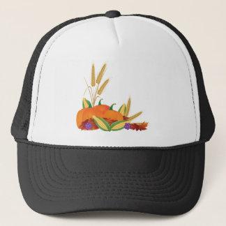 Fall Harvest Illustration Trucker Hat