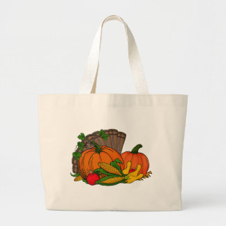 Fall Harvest Large Tote Bag