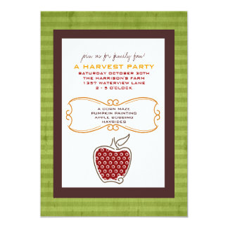 Fall Harvest Party Invitations
