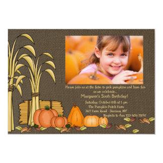 Fall Harvest Photo Invitation