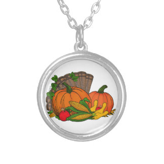 Fall Harvest Silver Plated Necklace