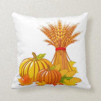 Fall Harvest Throw Pillow/Thanksgiving Cushion