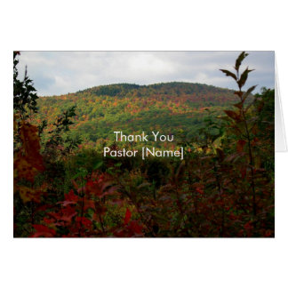 Fall Hills Landscape Pastor Appreciation Card