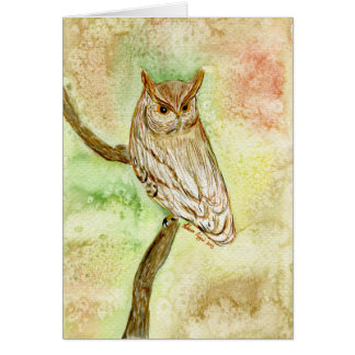 Fall Horned Owl Greeting Card