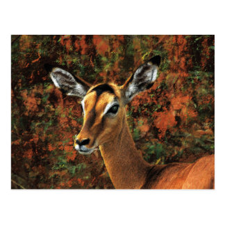 Fall Impala fantasy art Postcard