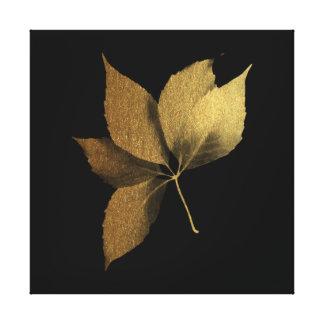 Fall Impressions Golden Leaf Canvas Print