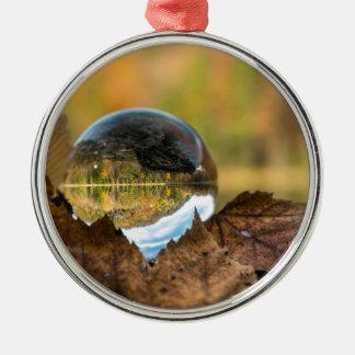 Fall in a ball metal ornament