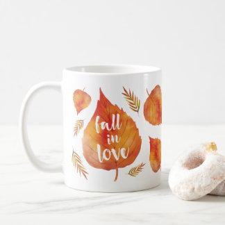 Fall in Love | Autumn Leaves Coffee Mug
