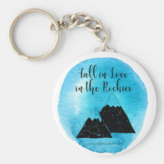 Fall in love in the Rockies Keychain