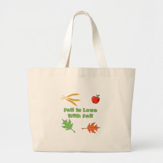 Fall In Love Large Tote Bag