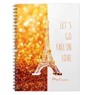 Fall in love Paris | Romantic Eiffel Tower Note Book