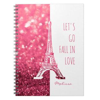 Fall in love Paris | Romantic Eiffel Tower Notebook