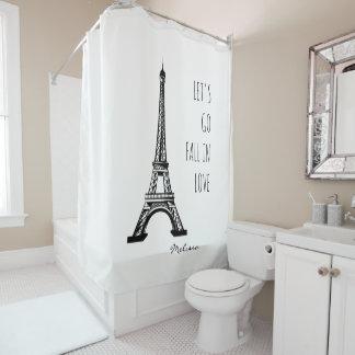 Fall in love Paris | Romantic Eiffel Tower Shower Curtain