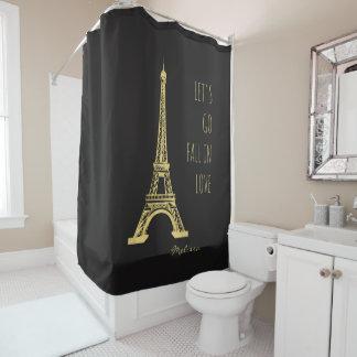 Fall in love Paris   Romantic Eiffel Tower Shower Curtain