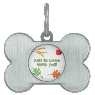 Fall In Love Pet ID Tag