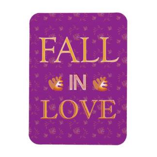 Fall in Love Vinyl Magnets