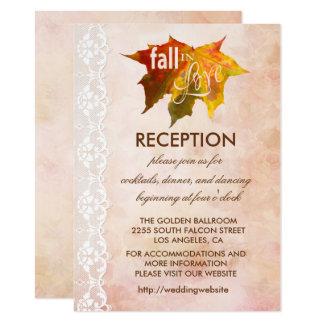 Fall in Love Wedding Reception Enclosure Card