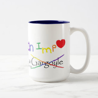 Fall in Love with an Imp Rainbow Two-Tone Coffee Mug