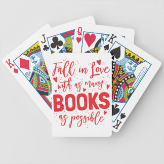 fall in love with books as possible bicycle playing cards
