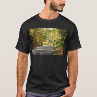 Fall in New England Back Road T-Shirt
