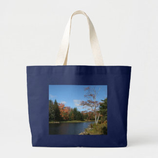 Fall in New England Canvas Bags